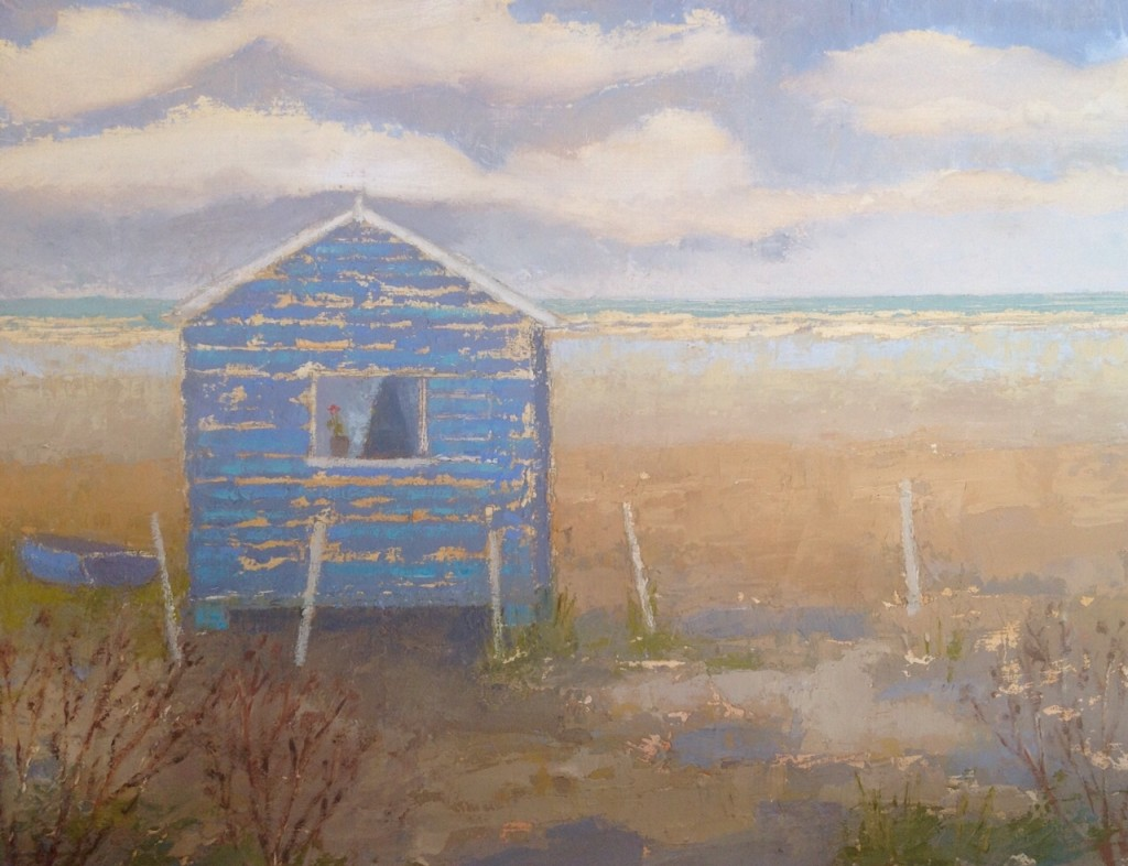 Beach Hut and Boat 29x22 cm
