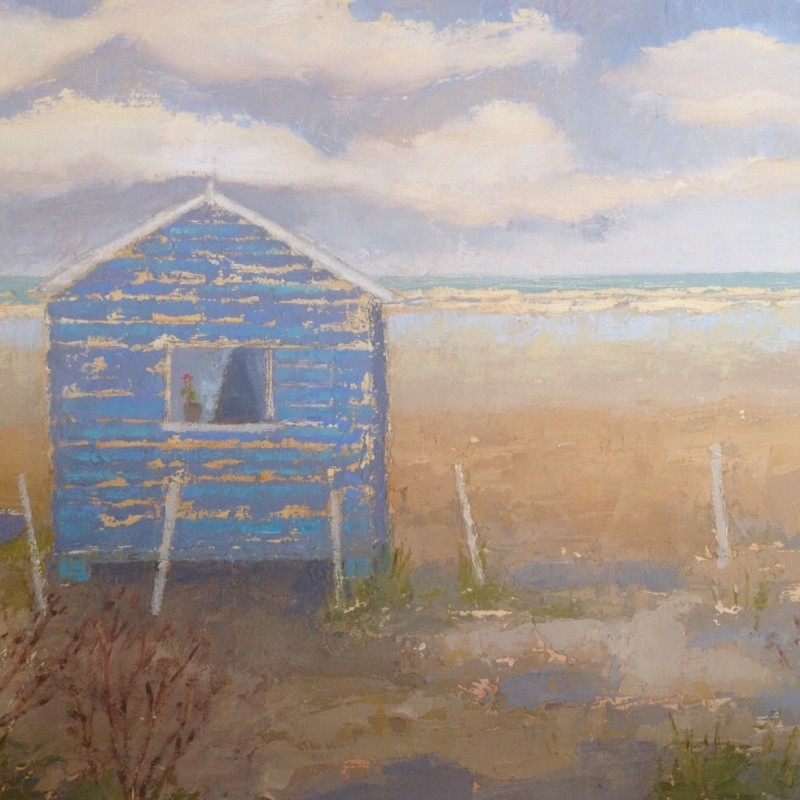 Beach Hut and Boat 29x22 cm