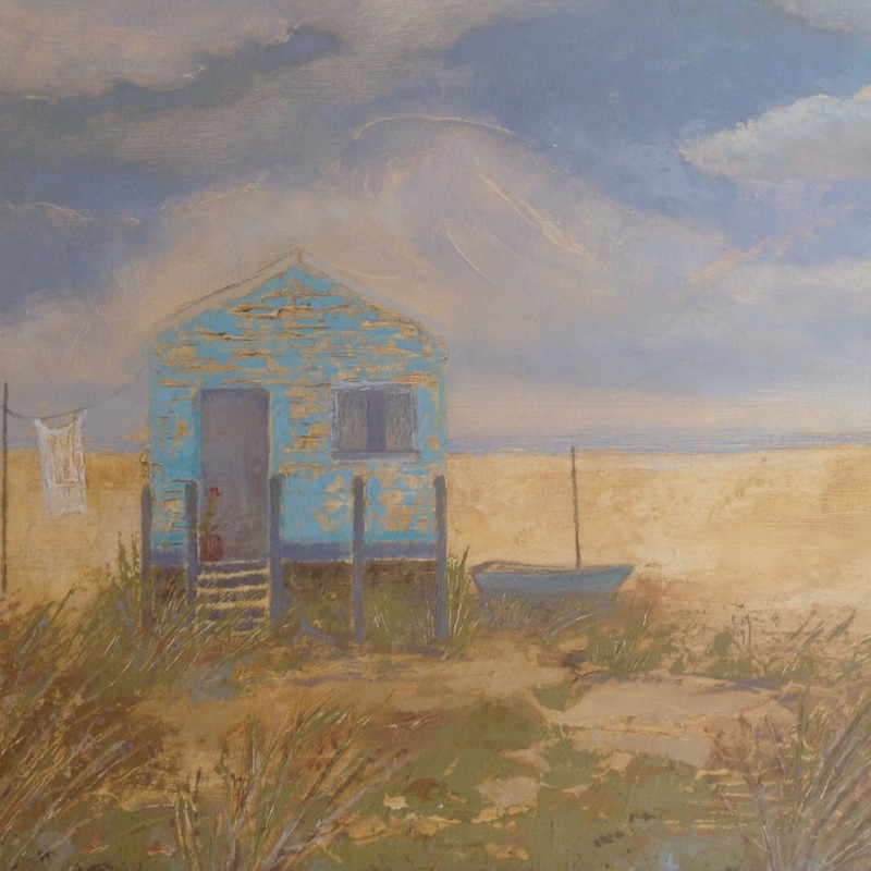 Beach Hut and Geranium