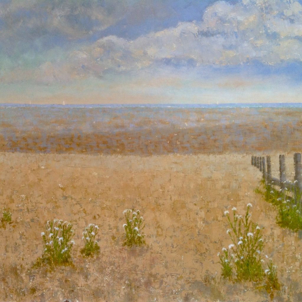 Beach and cowparsley 31x31 inches